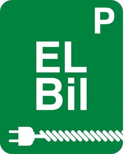 P El bil grøn skilt