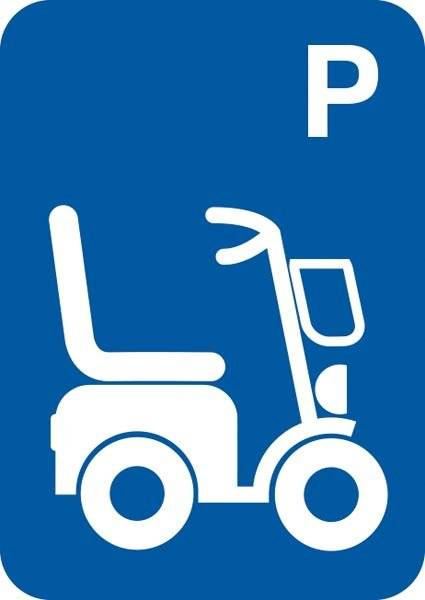 P El scooter. Parkeringsskilt