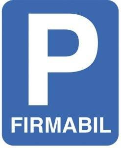 P Firmabil skilt