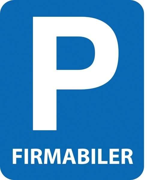 P Firmabiler skilt
