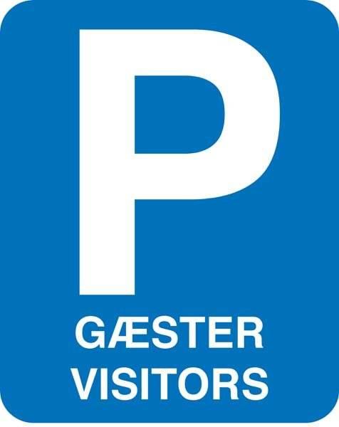 P Gæster Visitors skilt