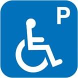 P handicap. Piktogram skilt