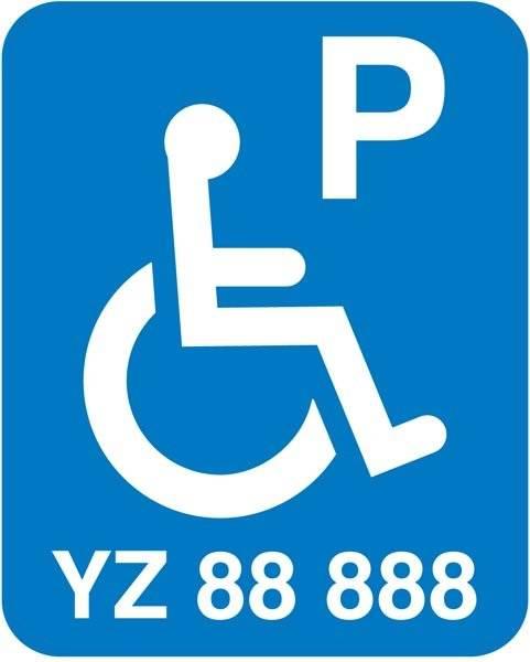 Handicap P reserveret nr. xx Skilt