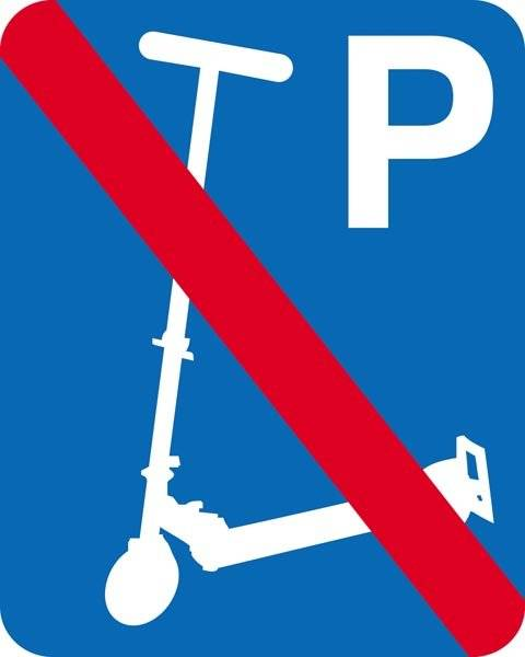 P Løbehjul forbudt skilt