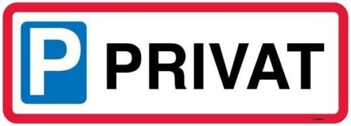 P Privat skilt