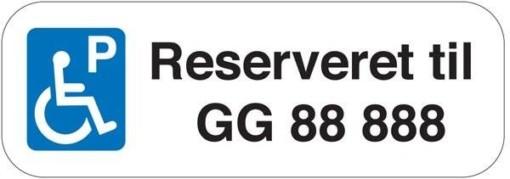 P Reserveret til xx Skilt