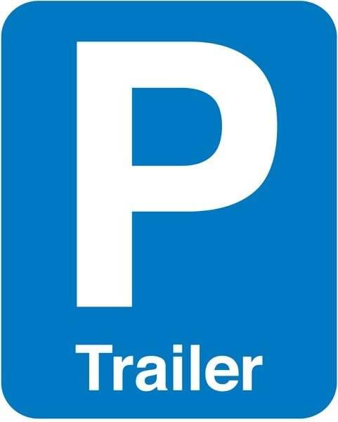 P Trailer skilt
