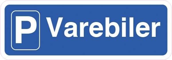 P Varebiler. skilt