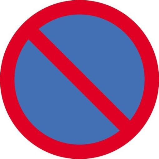 Parkering forbudt. Skilt