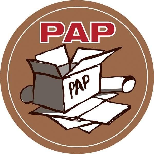 Pap. Mærkningsskilt