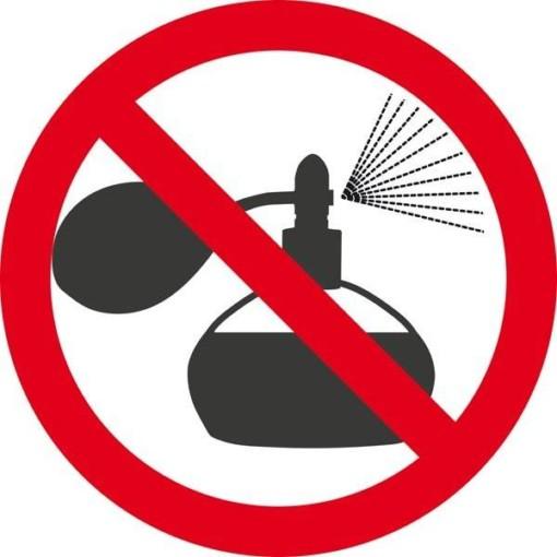 Parfume forbudt. Forbudsskilt