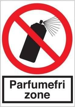 Parfumefri zone skilt