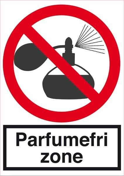 Parfumefri zone. Forbudsskilt
