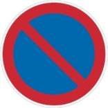 Parkeringforbudtskilt. Forbudsskilt