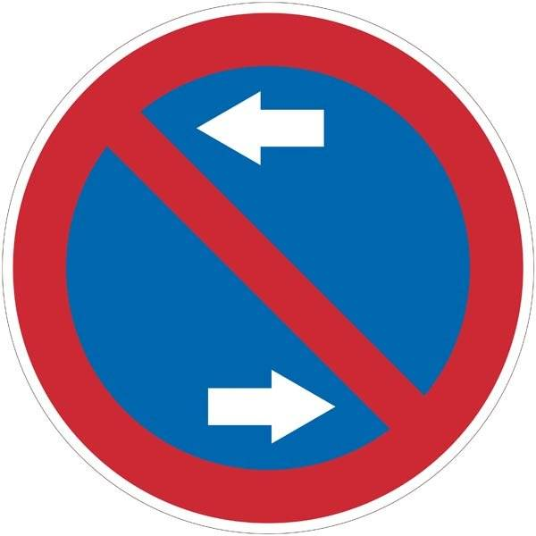 Parkeringforbudtskilt med pile. Forbudsskilt