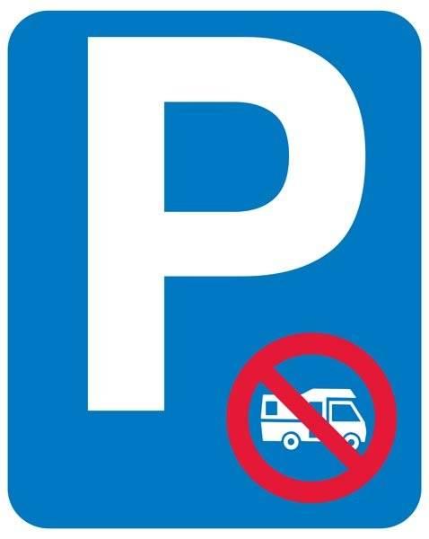 Parkeringsskilt ikke autocamper skilt
