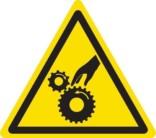 Pas på hænder advarselsskilt
