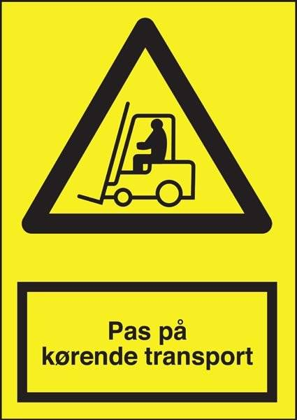 Advarselsskilt - Pas på kørende Transport