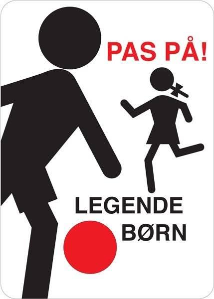 Pas på legende børn skilt