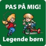 Pas på mig Legende børn Grøn. Legendebørnskilt