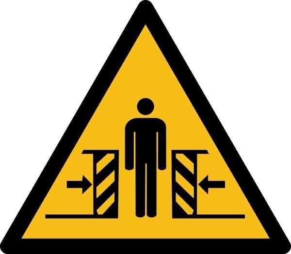Passage fare ISO_7010_W019. Advarselsskilt