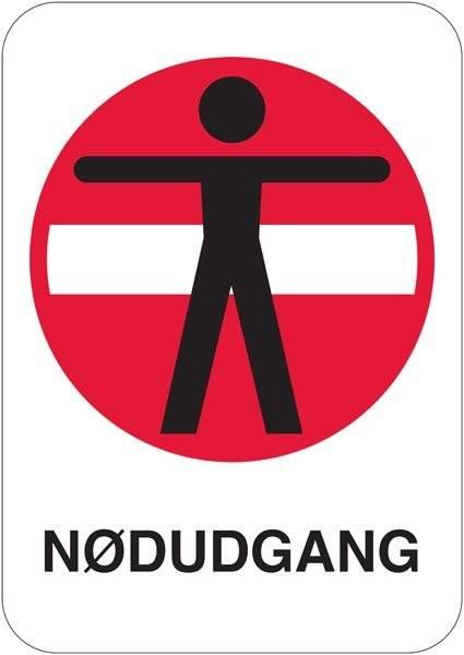 Person adgang forbudt Nødudgang skilt