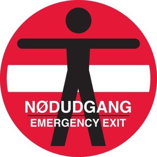 Person adgang forbudt Nødudgang Emergency exit skilt