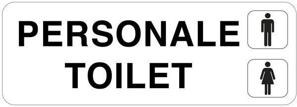 PERSONALE Toilet mand dame: Toiletskilt