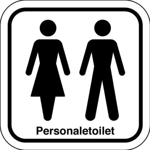 Personaletoilet. Toiletskilt