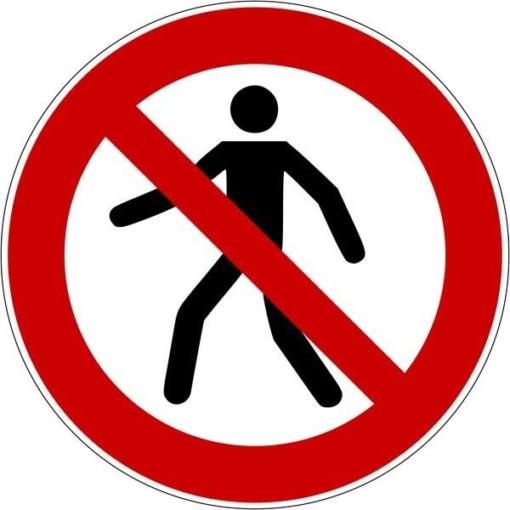 Personer forbudt ISO_7010_P004. Forbudsskilt