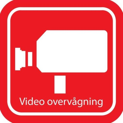 Video overvågning piktogram skilt