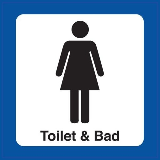 Toilet & bad damer Piktogram skilt