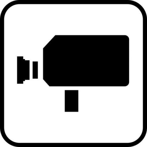 Kamera piktogram skilt