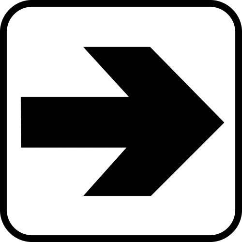 Pil - piktogram skilt
