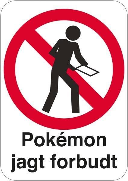 Pokémon jagt forbudt.Forbudsskilt
