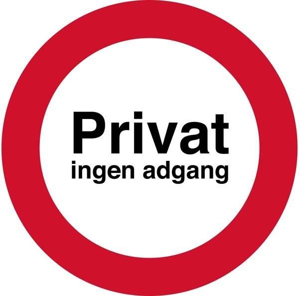 Privat ingen adgang forbudt