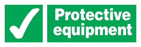 Protective Equipment Redningsskilt