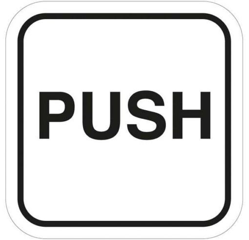 PUSH - piktogram skilt