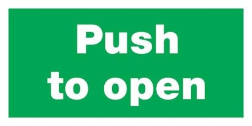 Push To Open Redningsskilte
