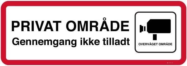 Privat område gennemgang ikke tilladt. Trafikskilt