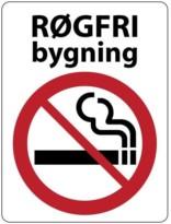 Røgfri bygning Skilt