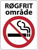 Rygning forbudt skilte