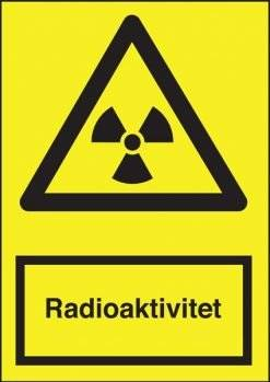 Advarselsskilt - Radioaktivitet