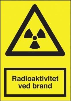 Advarselsskilt - Radioaktivitet ved brand