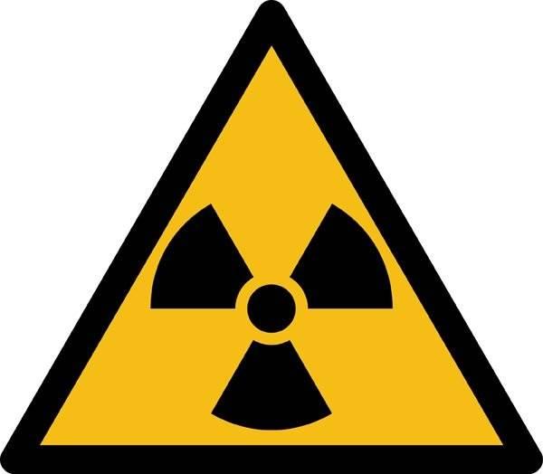 Radioaktivitetsfare ISO_7010_W003. Advarselsskilt