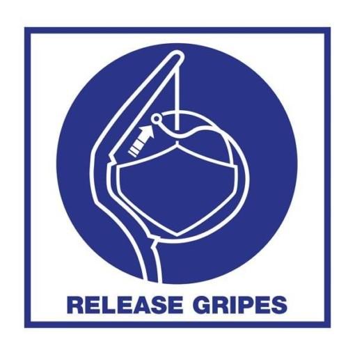Release Gripes: Redningsskilt