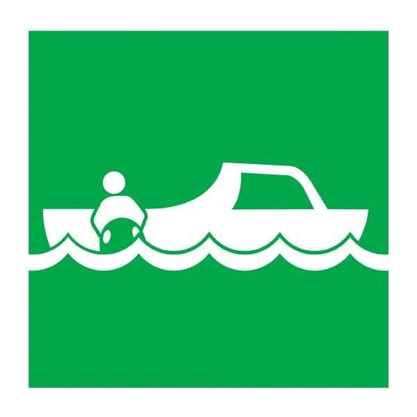 Rescue Boat Redningsskilt