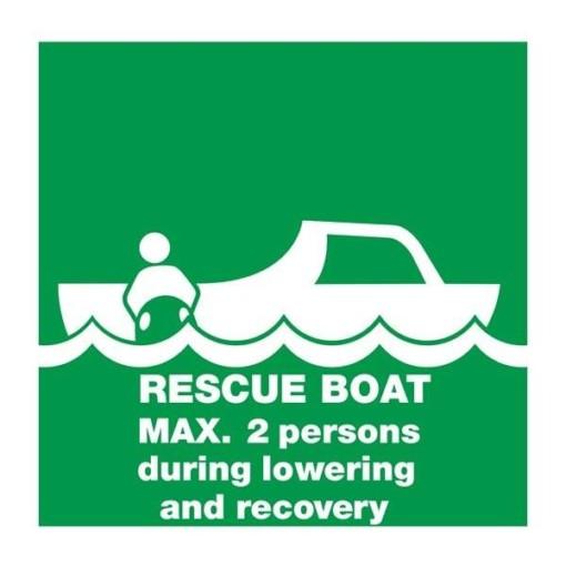 Rescue Boat Max 2 Prs: Redningsskilt