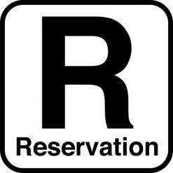 Reservation - piktogram skilt
