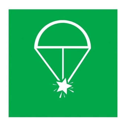 Rocket Parachute Redningsskilt